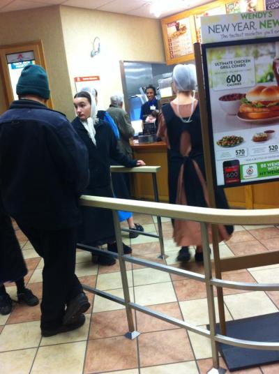 4thcoming:  The Amish at a local Wendy's, from friend Roger Smith via Facebook :)