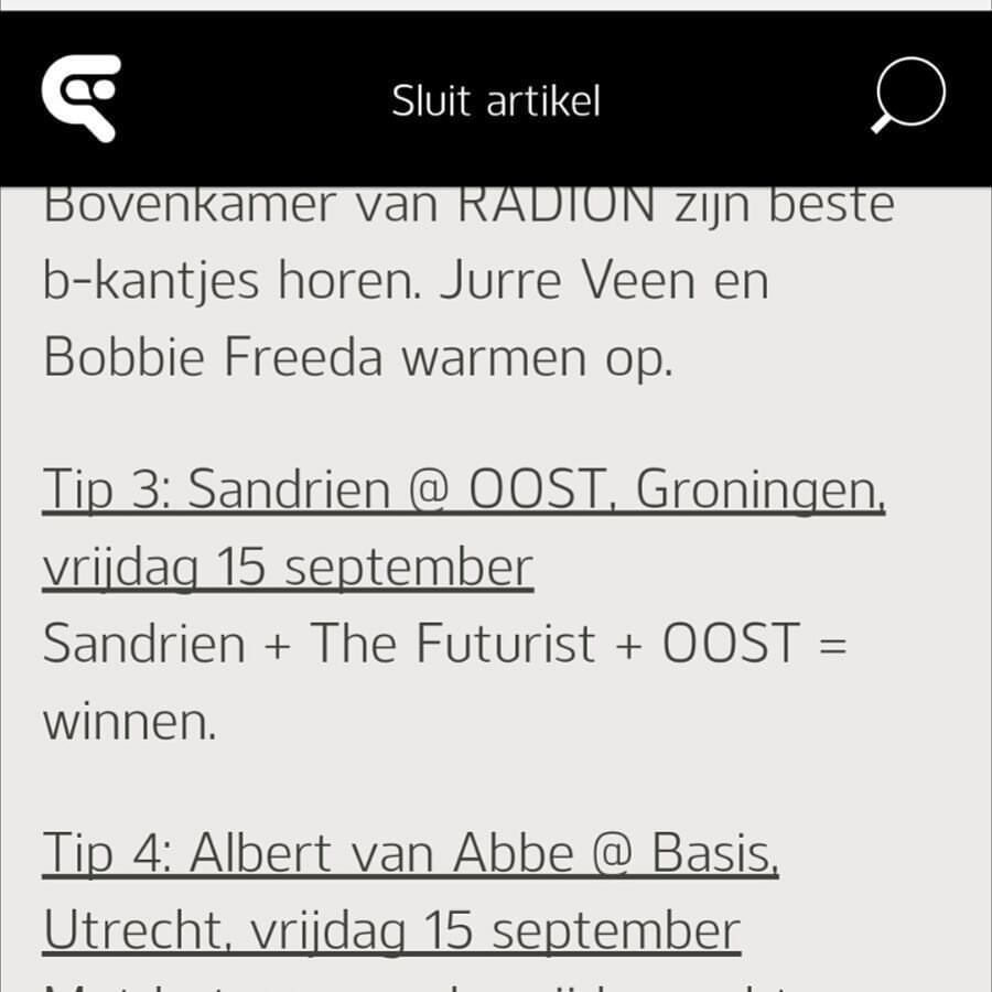 Thanks for mentioning my OOST x Sandrien gig @djbroadcast