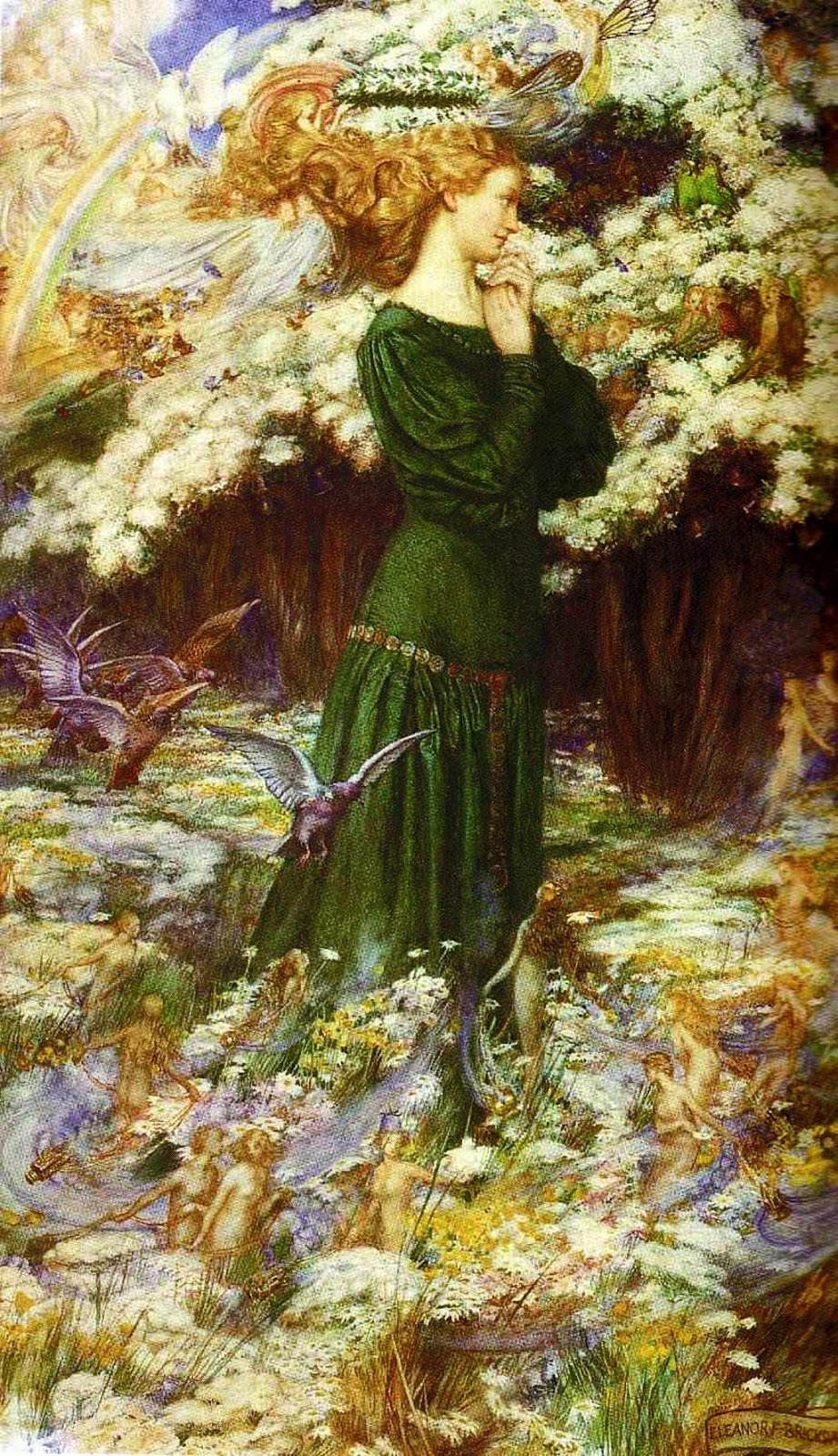 "the-garden-of-delights:  ""The Lover's World"" (1905) by Eleanor Fortescue-Brickdale (1872-1945)."