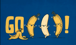 gettingahealthybody:  Bananas will cheer for you.