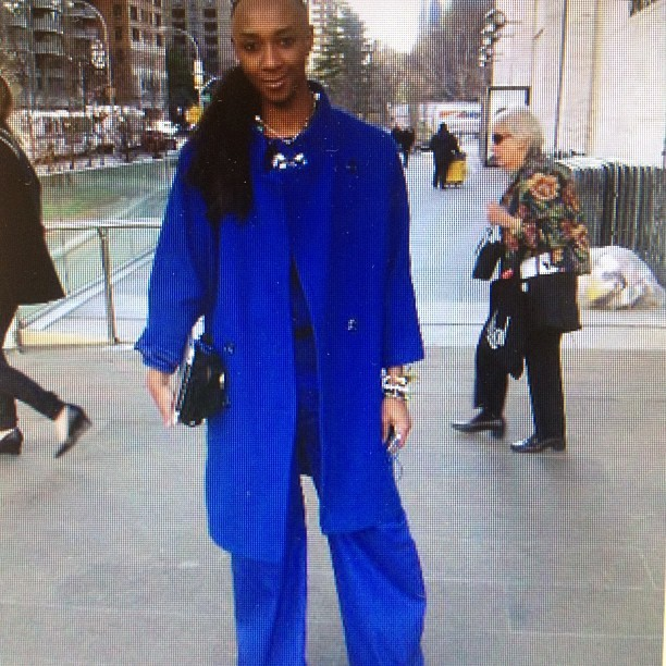 Throwback Thursday: i was Feeling Blue in Feb #2012 new york fashion week. #Opulence I owned everything. Lol.