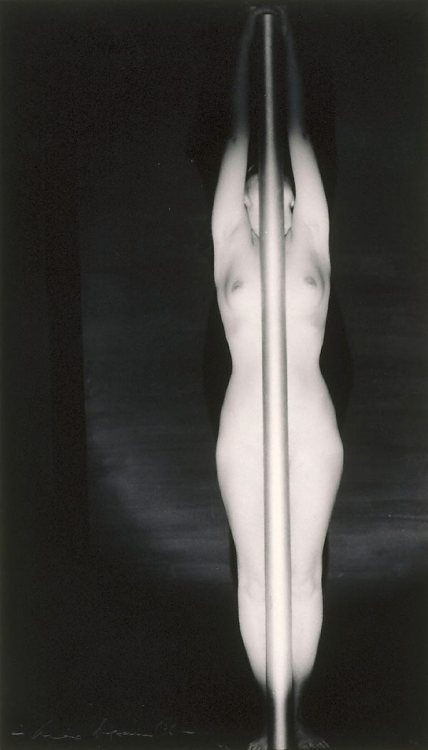 Max Dupain (via Untitled (Nude with pole), (1936, printed later), Portfolio No.4 The female form by Max Dupain :: The Collection :: Art Gallery NSW)