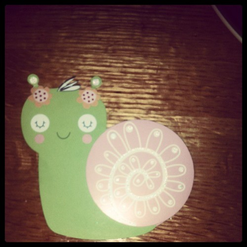 Snail birthday card! Can i say best family in the world?! <3