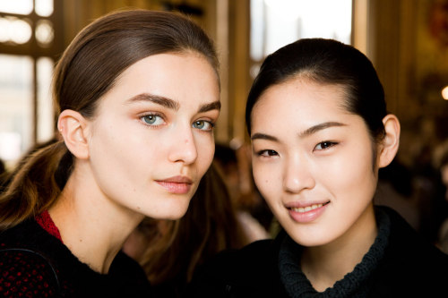 Pretty ponytails and fresh skin at Stella McCartney. Photo: Mark Leibowitz