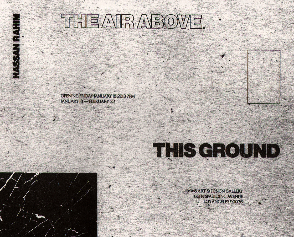The Air Above This Ground Exhibition Poster Printed on Risograph by Catalogue Press