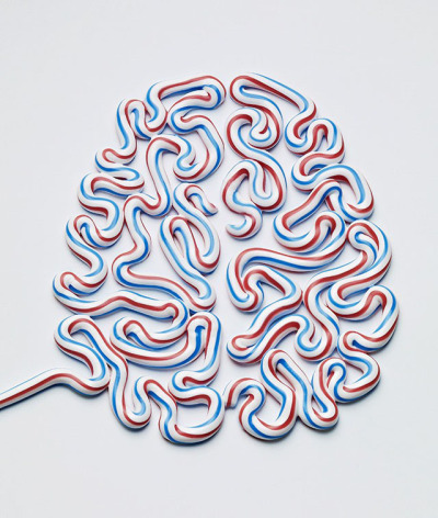 laughingsquid:  Brain Art Made of Toothpaste, Newspapers, and Food