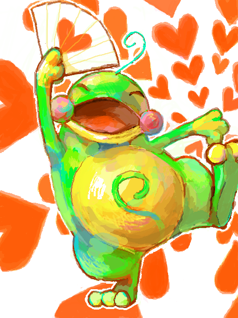 alternativepokemonart:  Artist A cute Politoed by request.