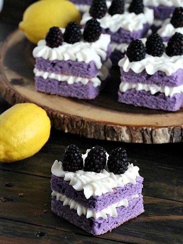 Http Peasandpeonies Com Vanilla Purple Cake With Lemon Buttercream