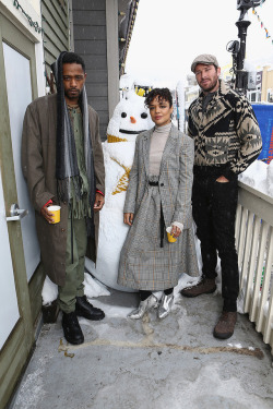 soph-okonedo:   Lakeith Stanfield, Tessa Thompson, and Armie Hammer of 'Sorry To Bother You' attend The IMDb Studio and The IMDb Show on Location at The Sundance Film Festival on January 20, 2018 in Park City, Utah
