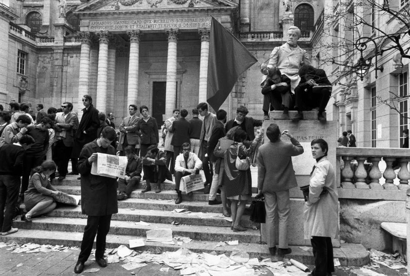 Bruno Barbey     Students Occupying the Sorbonne, Paris     May, 1968