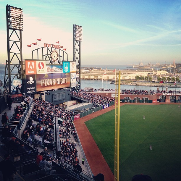 Pixar Night at AT&T Park. #Pixar #SFGiants (at AT&T Park)