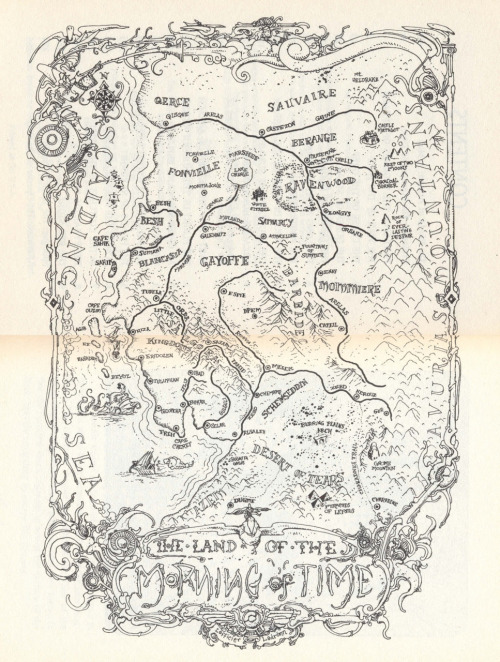 A map of the world of Arzach, drawn by José Ladrönn, originally printed in Arzach: The Novel, by Jean-Marc and Randy Lofficier(2000)