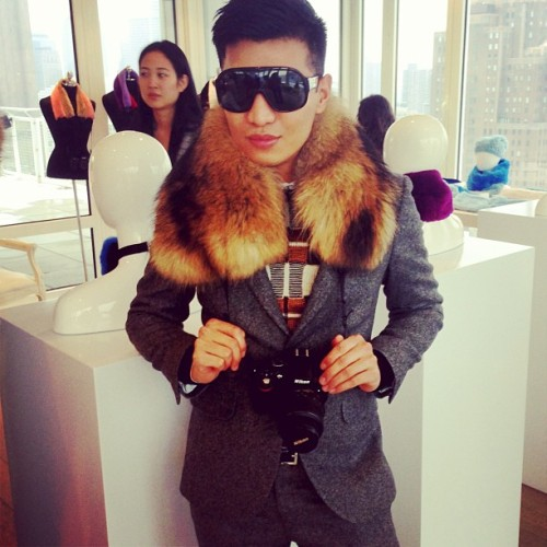We're predicting a blogger sell-out: @BRYANBOYCOM for @AdrienneLandau includes fur camera straps