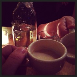 """Sipping soup"". Compliments of the kitchen. #23hoyt #dinner #portland #instagood # (at 23Hoyt)"