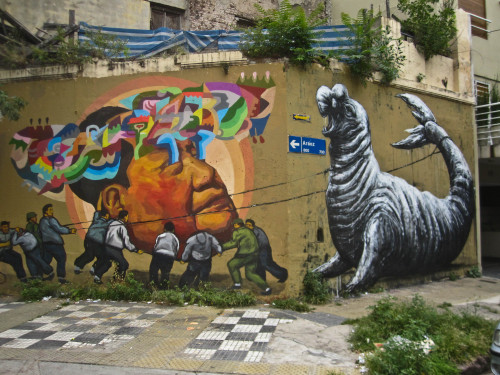 The newest piece by Roa with Ever in Buenos Aires. Check out more here: http://tradingvoyageur.com/street-art/