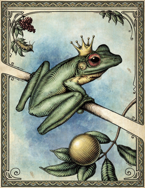 "fairytalemood:  ""The Frog Prince"" by Mike Schley"