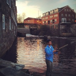#fishing @aarsenault2012 (at Newmarket Mills)