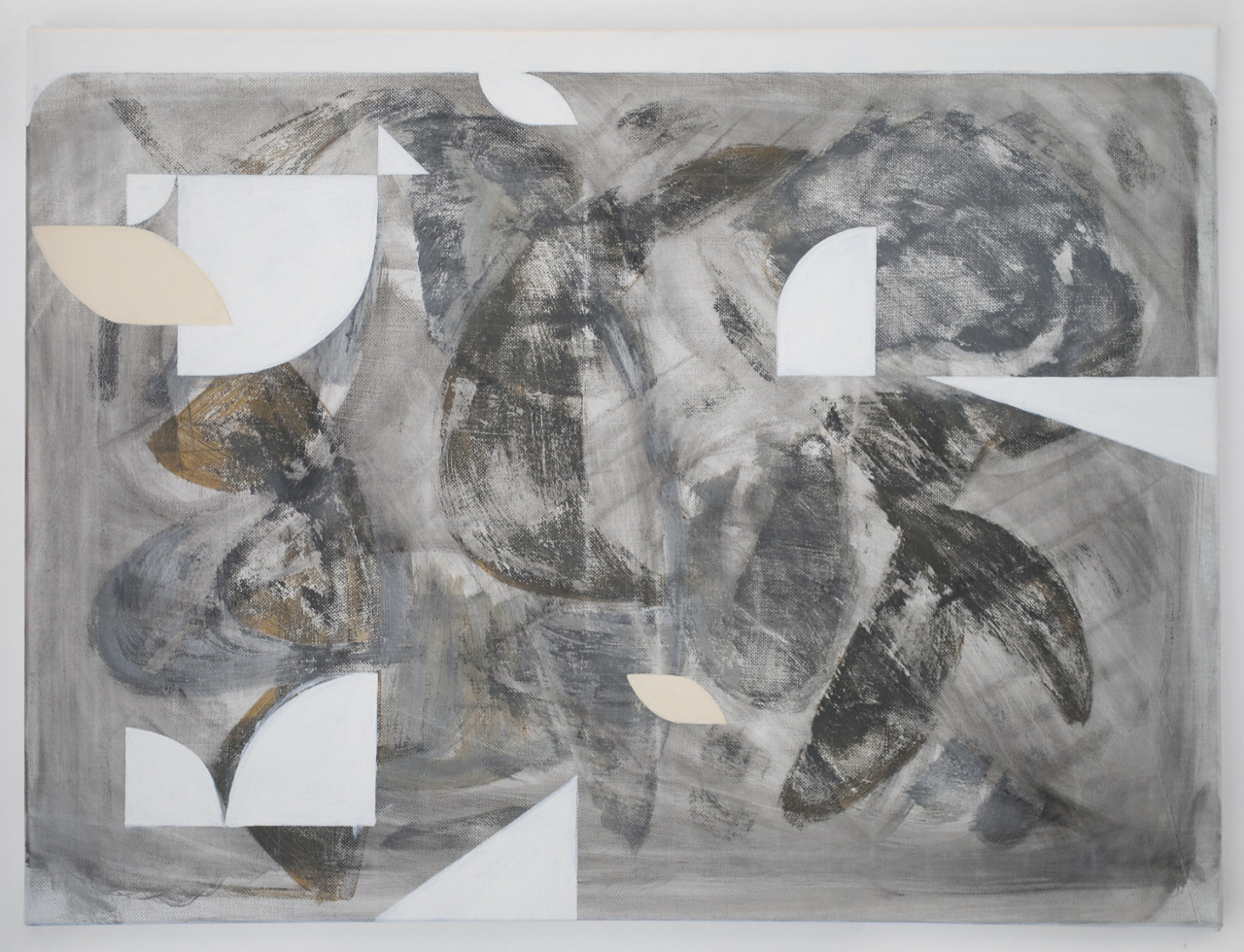 White (II), 2013. Acrylic and charcoal on canvas; 18 x 24 in.
