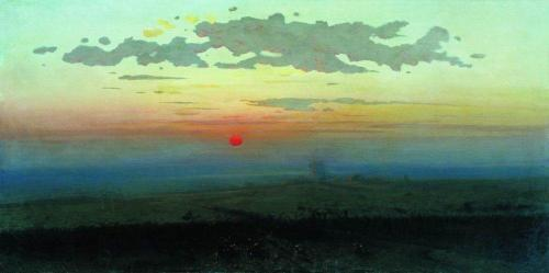 Arkhip Kuindzhi- Sunset in the Steppes (1900)