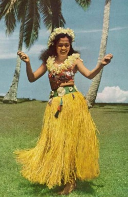 vintagenatgeographic:  Hula dancer in Tahiti National Geographic | January 1949