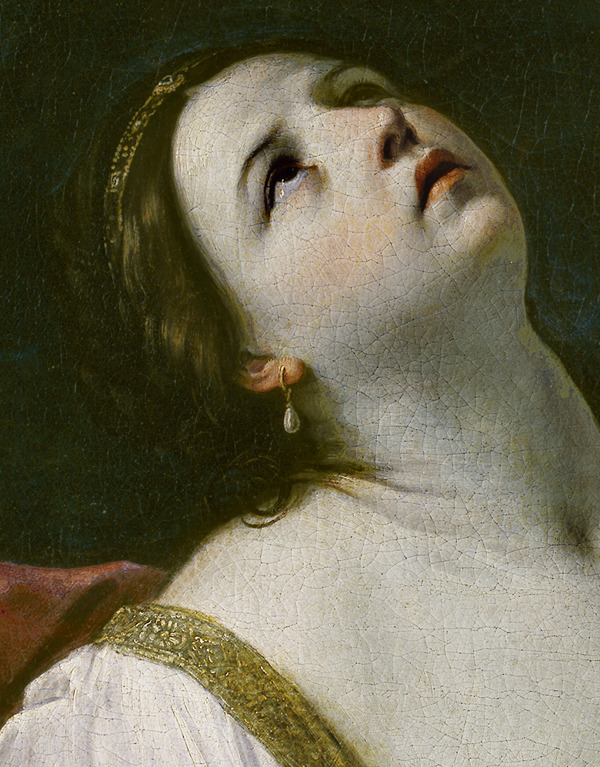 jaded-mandarin:  Guido Reni. Detail from Cleopatra.