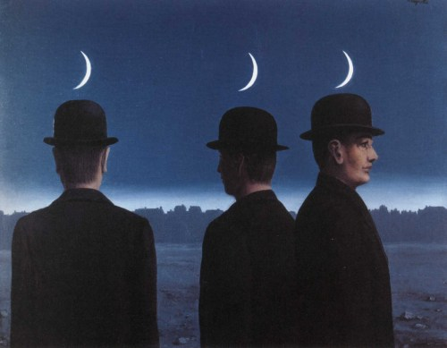 apropos-not:   René Magritte - The mysteries of the horizon (1955)