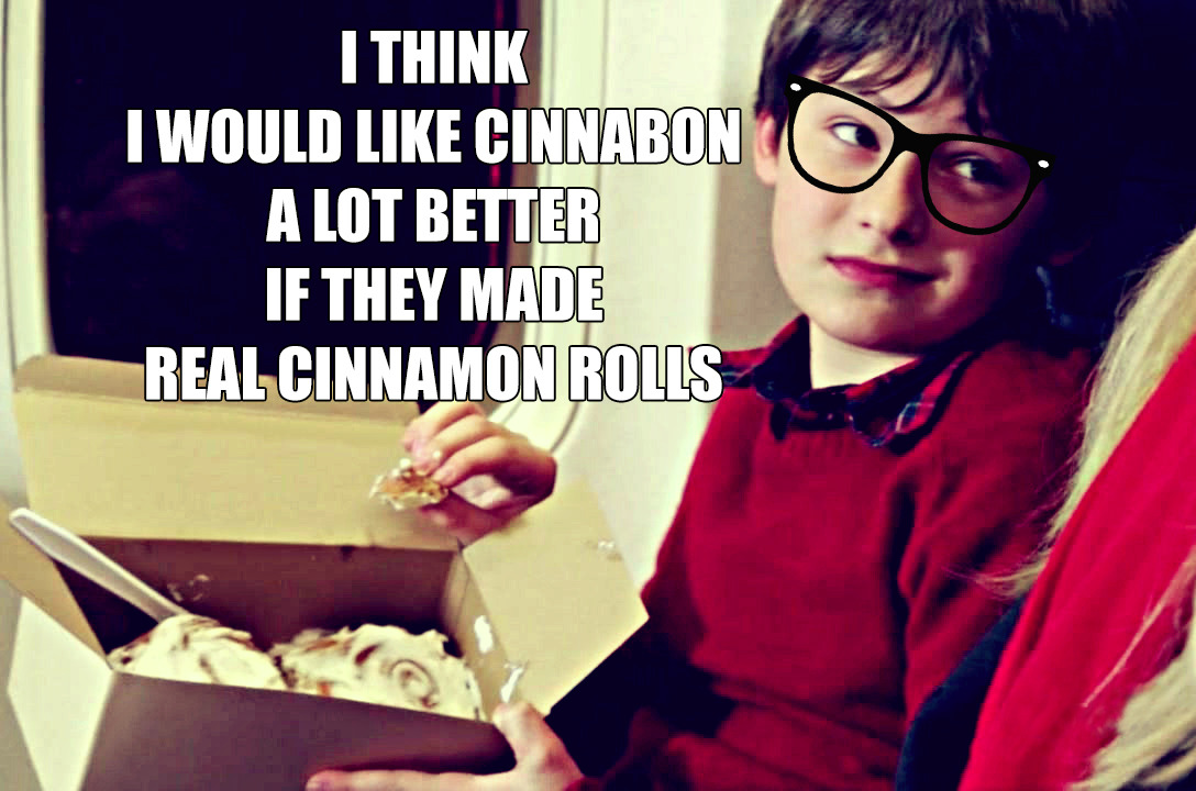 Look, Henry, I'll get you some real cinnamon rolls in New York, just please, please don't tell Regina I let you eat airport junk food.