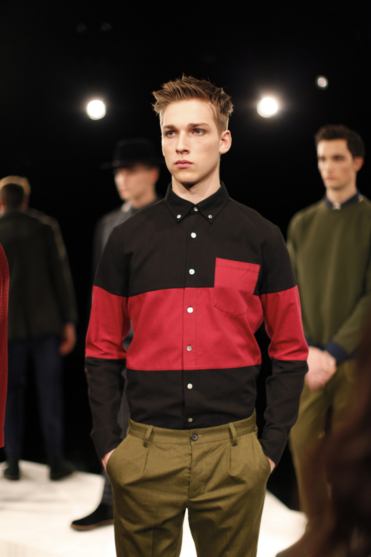 New York Fashion Week Timo Weiland Men's F/W 2013 Love this color block shirt! Find us: FACEBOOK | TWITTER | BLOGLOVIN | PINTEREST | LOOKBOOK