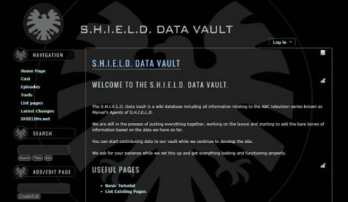 "shield-tv:  The ""Agents of S.H.I.E.L.D."" Wiki aka the ""S.H.I.E.L.D. Data Vault"" Some might consider it early days but here at shieldtv.net we believe in keeping on top of all the latest details as they become available. With that in mind we've set up the first ""Agents of S.H.I.E.L.D."" wiki, called the ""S.H.I.E.L.D. Data Vault."" You'll… … Read More"