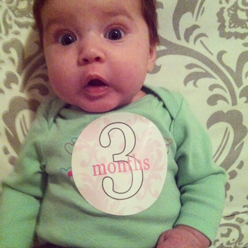 My #babybailee is 3 months old today!! Where has the time gone??? ☺😳❤❤ #loveofmylife #3monthsold #baileeaday @sal_rizo