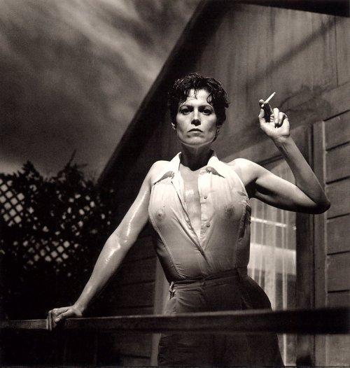 SIGOURNEY WEAVER by Helmut Newton~~~~  and now what?