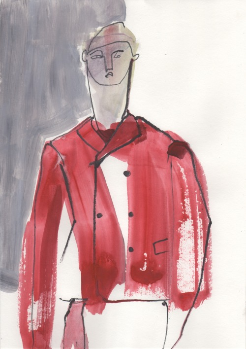 Jil Sander A/W13 illustrated by Helen Bullock