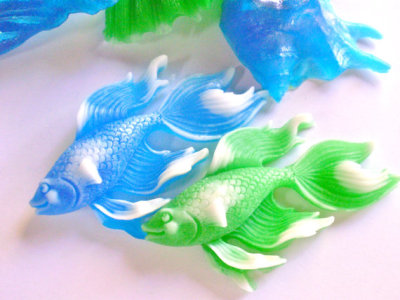 """Beta Fish"" Soap by thecharmingfrog"