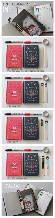 "hitrecordjoe:  hitrecord:  ""Tiny Bookmark DIY"" REmix by eaneikciv == MattConley (Community Director) writes: Can't wait to see how the community remixes this idea into more bookmarks! Fantastic record, Vickie! :D == Contribute your Tiny Stories HERE!  Make your own Tiny Stories bookmarks! :o)"