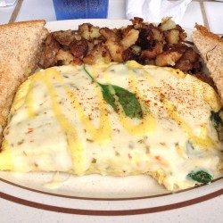 Best time to eat breakfast is lunch #spinach #omelet at gazebos