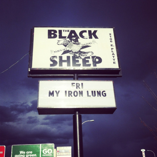 Playing Colorado Springs tonight at The Black Sheep! Doors are at 7:30
