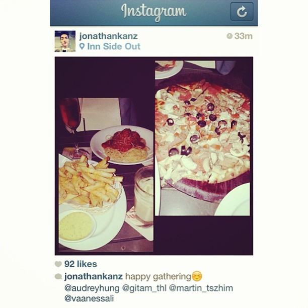 #repost #gathering #innsideout #cheesefries #pizza #snowball #cosmopolitan #causewaybay #bestfriends #hongkong