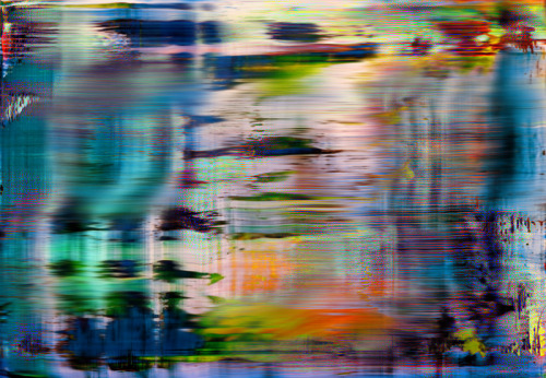 mainart:  Digitally generated Richter (120x80 cms), 2013 Ibon Mainar