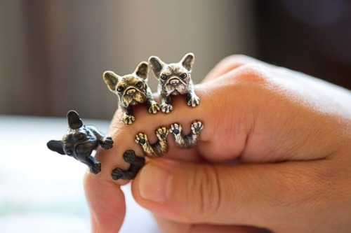 batpigandme:  Awesome handmade Frenchie rings by Yaci on Etsy Kopometal Handmade Bulldog Ring www.yaci.com.au/ringsize.pdf