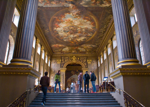 The Painted Hall in Greenwich, the best possible cause for a pain in the neck!
