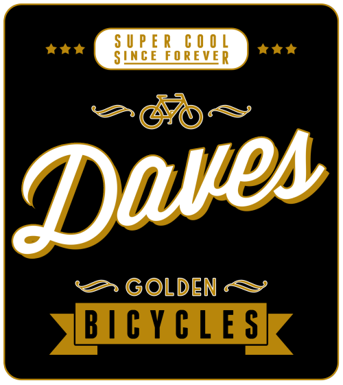 Daves golden bicycles, putting the swag back in travel.