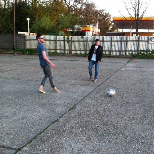 Footy with boys from missing andy