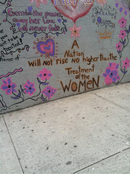 hardscum:  female-only:  wow!  where is that from?  Harlem knows what's up. :) I walk past a mural with this gem regularly and thought I'd share.