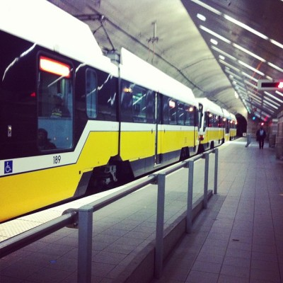 Today I rode the DART train for the first time. (at Cityplace/Uptown Station (DART Rail))