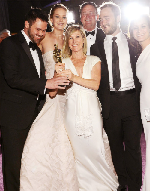 Jennifer Lawrence and her family.