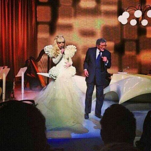 Gaga performing at the White House with Tony Bennett.