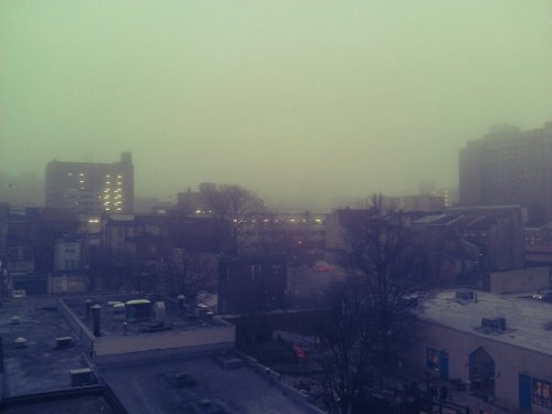 Foggy day in B'more town.