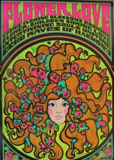 theswinginsixties:  Flower Love poster, 1967.