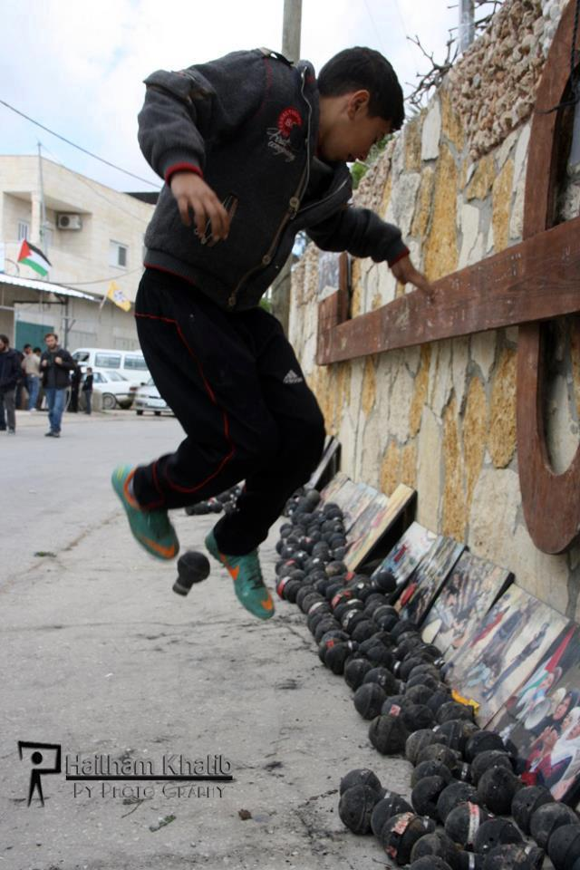 #Palestine Protest marking eight years of struggle against the wall passing through the village and in solidarity with Palestinian prisoners who are on hunger-strike in Israeli prisons. Photo by Haitham Al Khatib