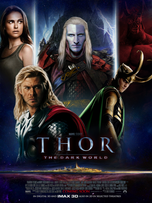 "Thor: The Dark World November 8 2013 Marvel's ""Thor: The Dark World"" continues the big-screen adventures of Thor, the Mighty Avenger, as he battles to save Earth and all the Nine Realms from a shadowy enemy that predates the universe itself. In the aftermath of Marvel's ""Thor"" and ""Marvel's The Avengers,"" Thor fights to restore order across the cosmos…but an ancient race led by the vengeful Malekith returns to plunge the universe back into darkness. Faced with an enemy that even Odin and Asgard cannot withstand, Thor must embark on his most perilous and personal journey yet, one that will reunite him with Jane Foster and force him to sacrifice everything to save us all."